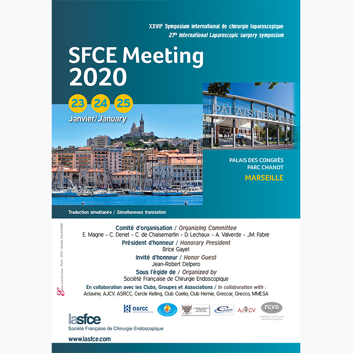 SMICES will attend the SFCE  (The french society of endoscopic surgery) congress from the 23rd to 25th january 2020 in Marseille.